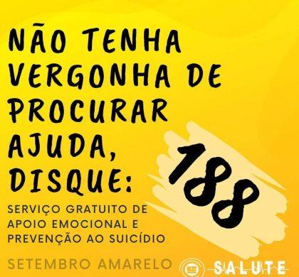 Prevenção contra o Suicídio. Disque: 188